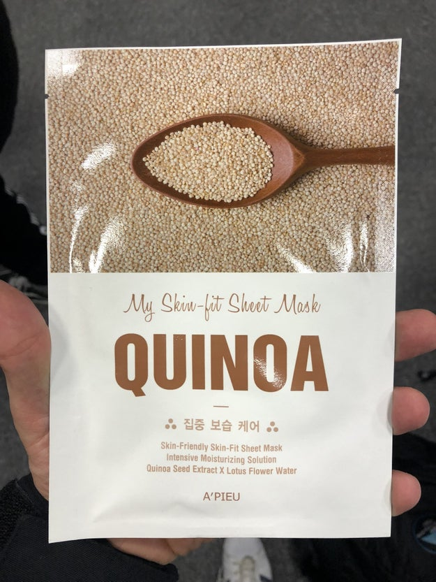 Quinoa face masks.