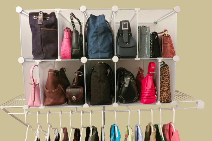 Give Your Closet A Real Throwback To The Best Of Times By Storing Handbags  And Backpacks In Grids, Using The Same Cubby System You Did In Your  Kindergarten ...