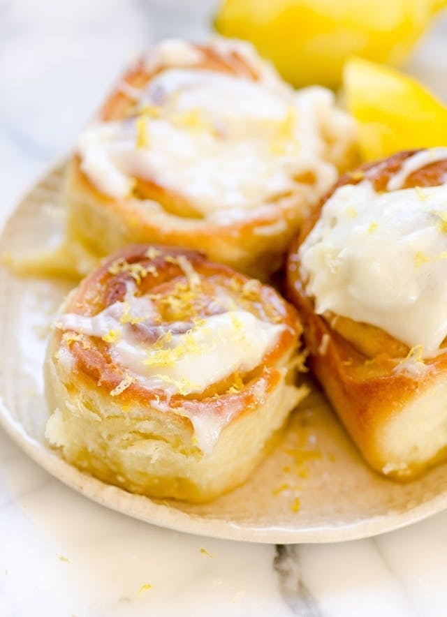 Replace traditional vanilla frosting with slightly tart cream cheese glaze, and you've got these fluffy rolls. Recipe here.