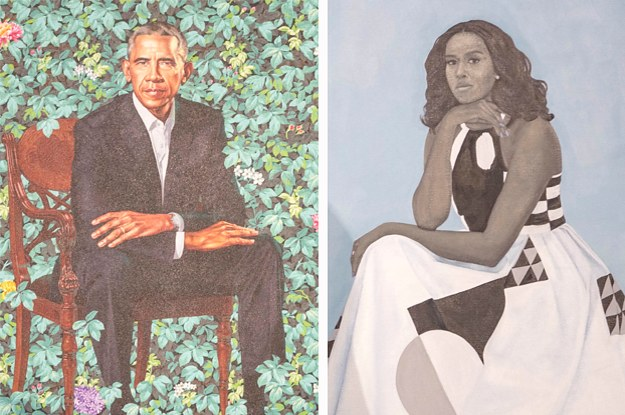 Barack And Michelle Obama's Official Portraits Were Just Unveiled And People Either Love Or Hate Michelle's