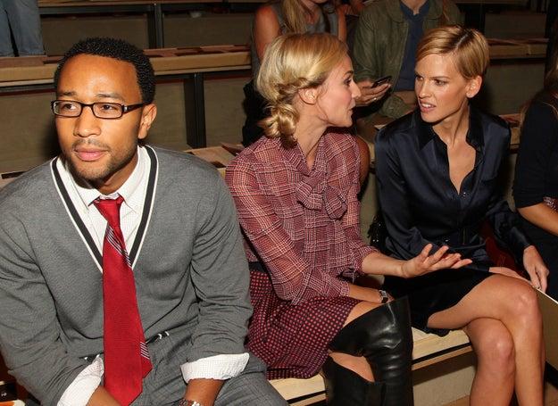 2008: John Legend, Diane Kruger and Hilary Swank.