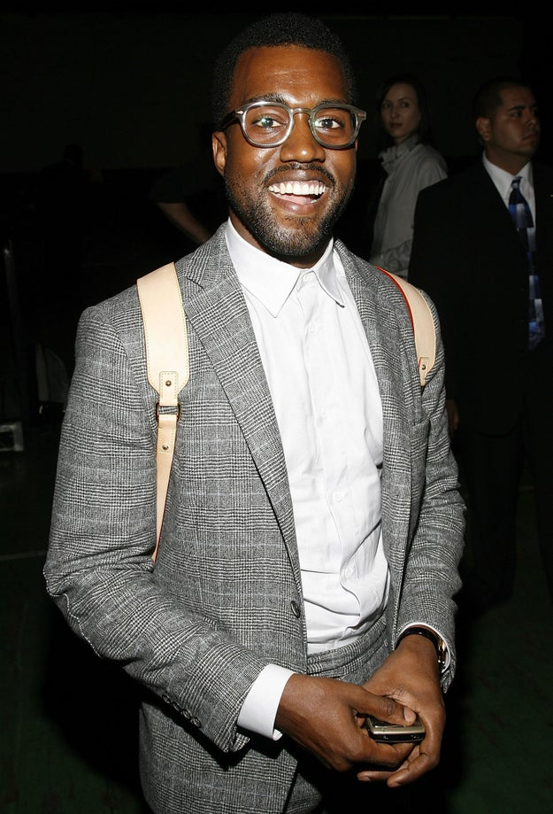 2008: Kanye West smiled.