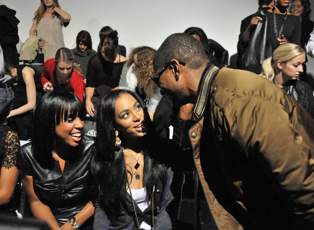 2008: Kelly Rowland, Solange Knowles, and Usher.