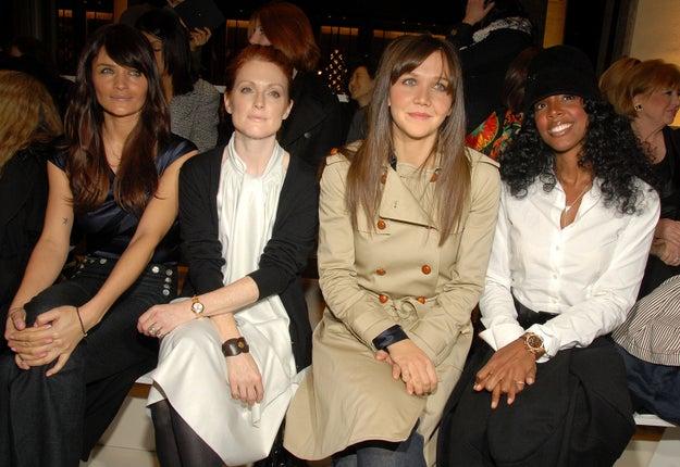 2008: Helena Christensen, Julianne Moore, Maggie Gyllenhaal, and Kelly Rowland.