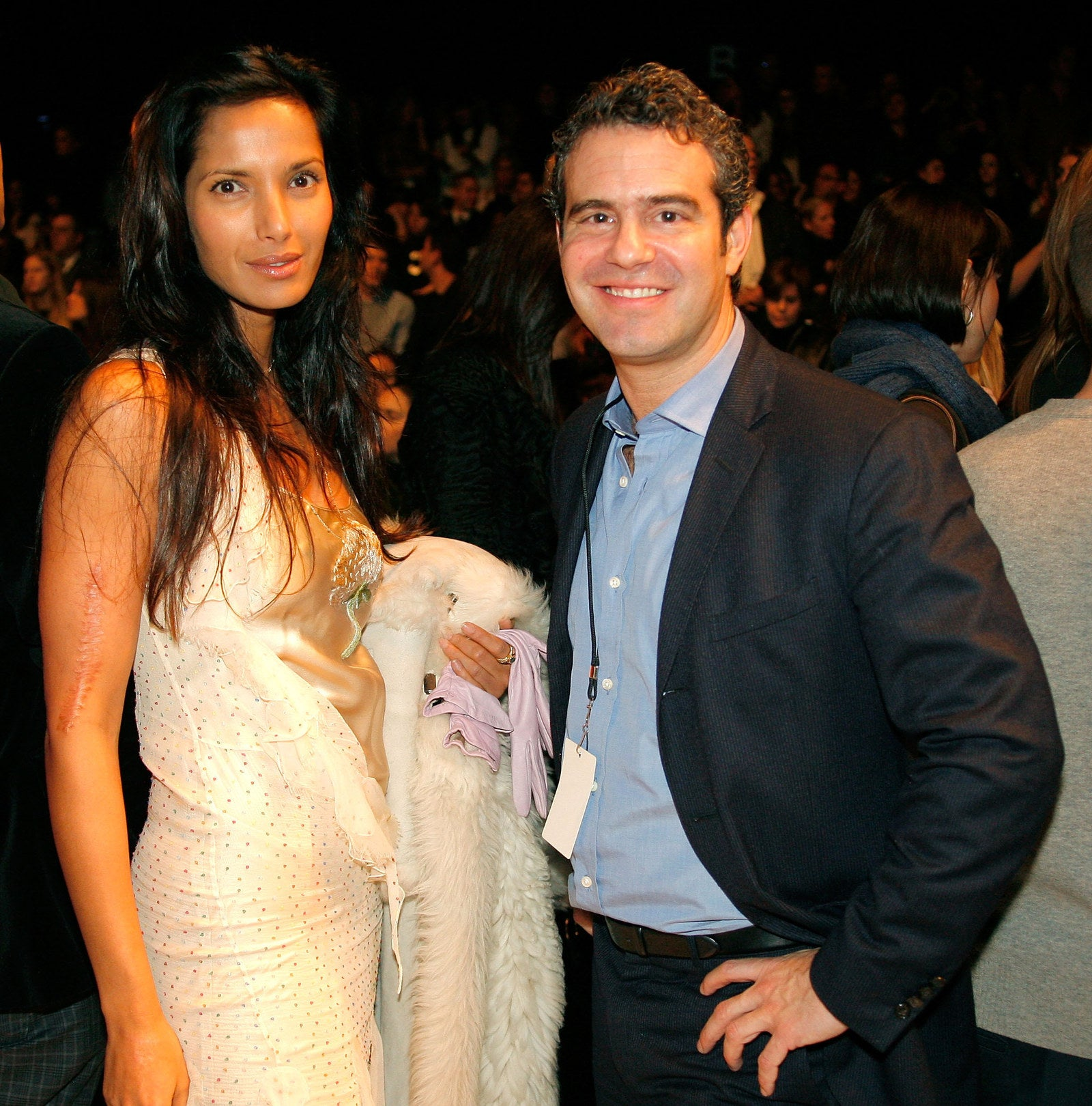 2008: Padma Lakshmi and Andy Cohen.