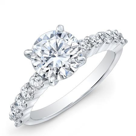 Among the data: people tend to spend around 3-1/2 months looking for an engagement ring, and the most popular rings are round cut stones.