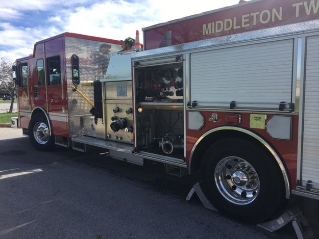 The Middleton Township Fire Department, where Kelsey's father and his wife are volunteer firefighters, also placed the two on leave after the incident.