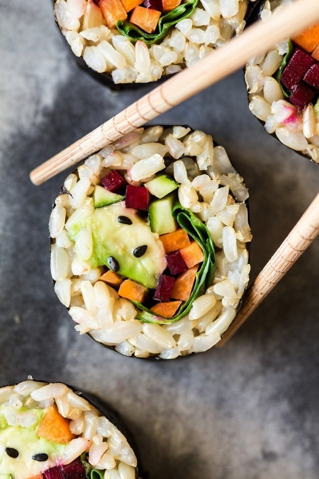 Brown Rice Vegetable Sushi