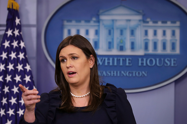 Sarah Sanders Says Trump Supports Victims Of Domestic Abuse — But Won't Say Why The President Doesn't Say So Himself