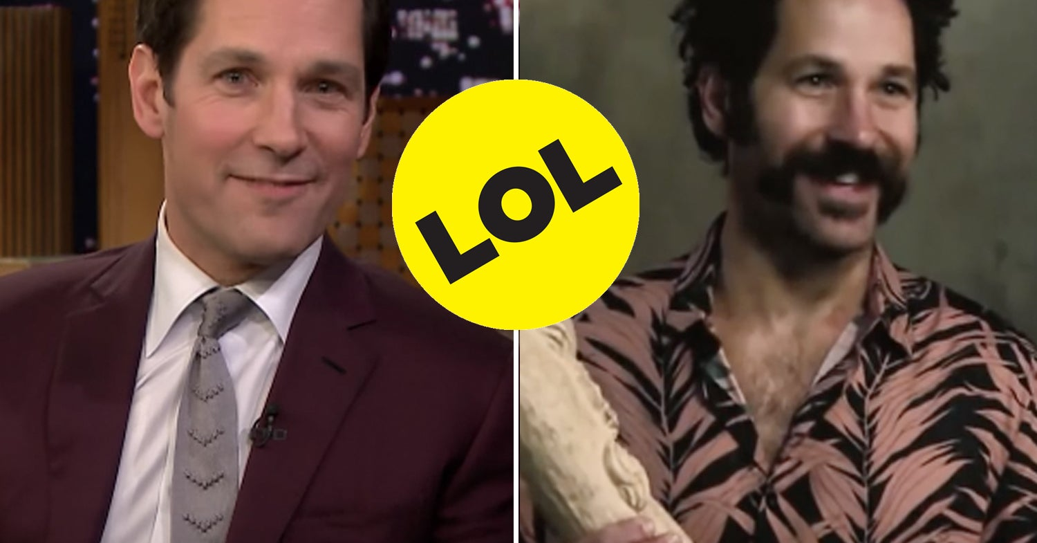 Paul Rudd Accidentally Terrorized An Elderly Couple With His Mustache And I'm Crying Actual Tears