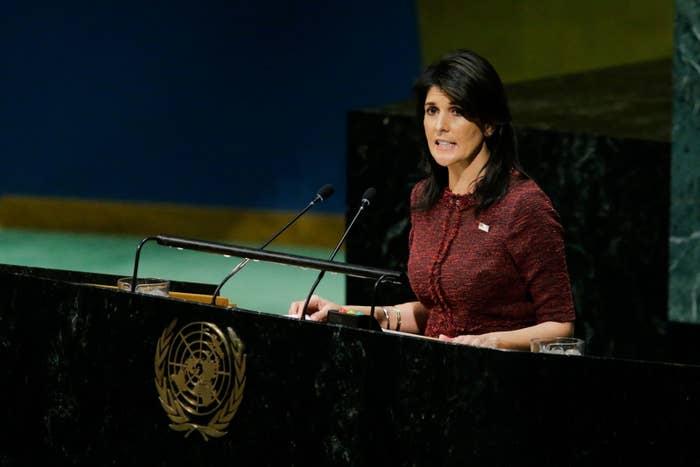 UN Ambassador to the United Nations Nikki Haley.