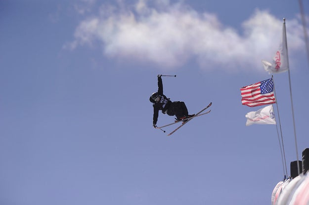 "Majestically floating next to the flag of the goodle (pronounced like ""good ole'"") USA!"