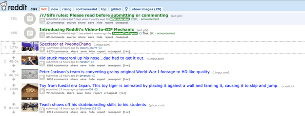 The moment also made it to the top of r/gifs and eventually to the top of the Reddit front page.