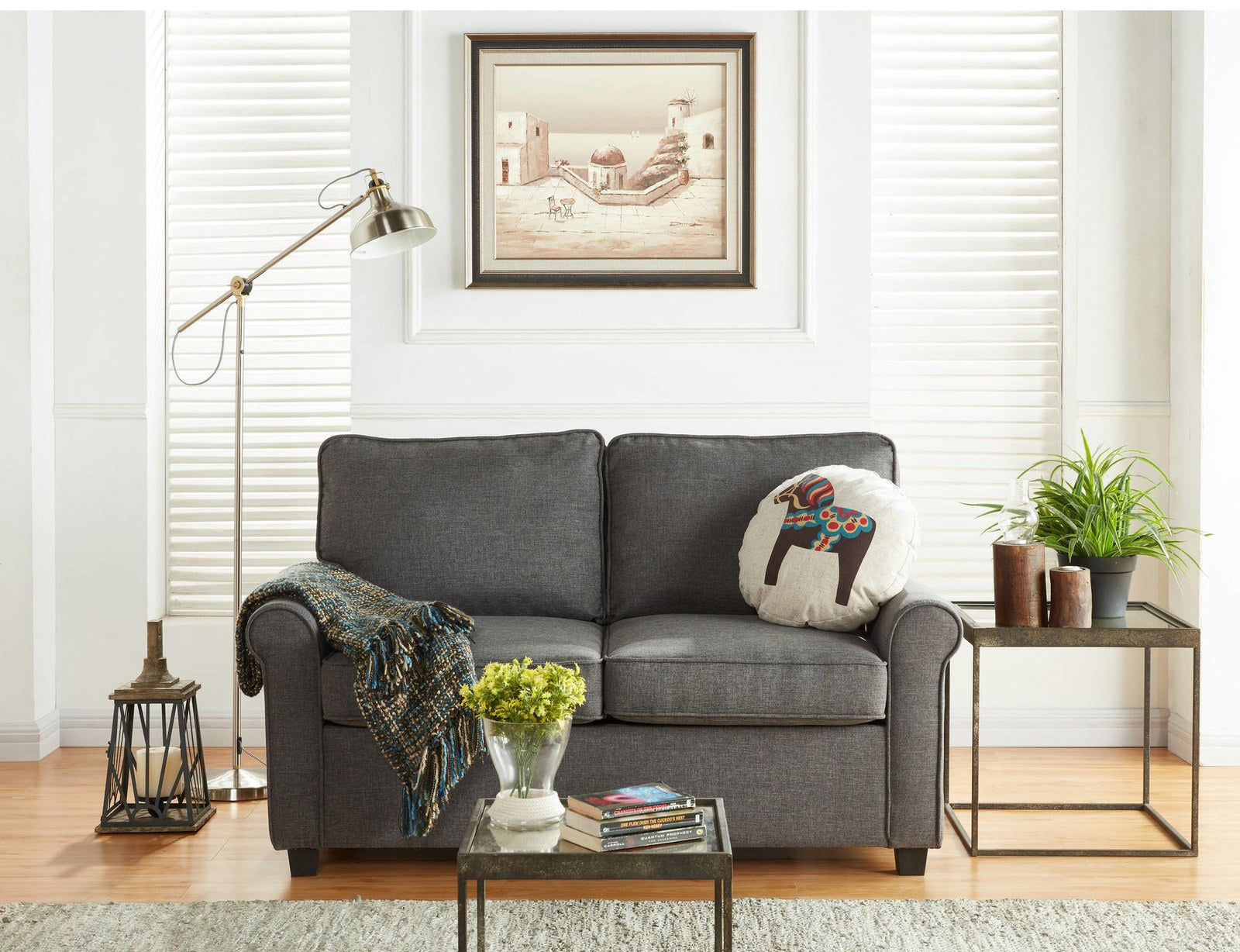 """Promising review: """"This is a fantastic little sleeper love seat. My mom was just moved into assisted living — a studio apartment — and needed a sleeper for guests (me). It was delivered, my brother set it up (I convinced him it was going to be easy, as that's what the reviews said, and it was!), I arrived and my first night I slept all the way through. So comfortable! And it's adorable in her apartment — a perfect fit! Very, very pleased."""" —NancyPrice: $299"""