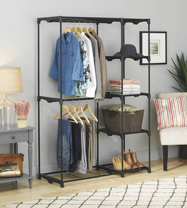 """Promising review: """"This is perfect for any apartment with very little storage and assembly was simple. It's exactly what I needed. I'm very satisfied with this product."""" —JimmyGet it from Amazon for $49.99."""