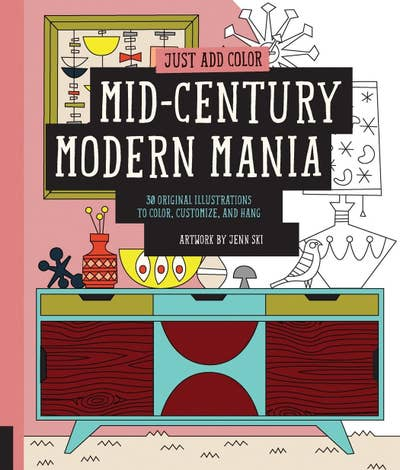 A Coloring Book Dedicated To Mid Century Modern Aka The Best Interior Style In My Humble And Correct Opinion