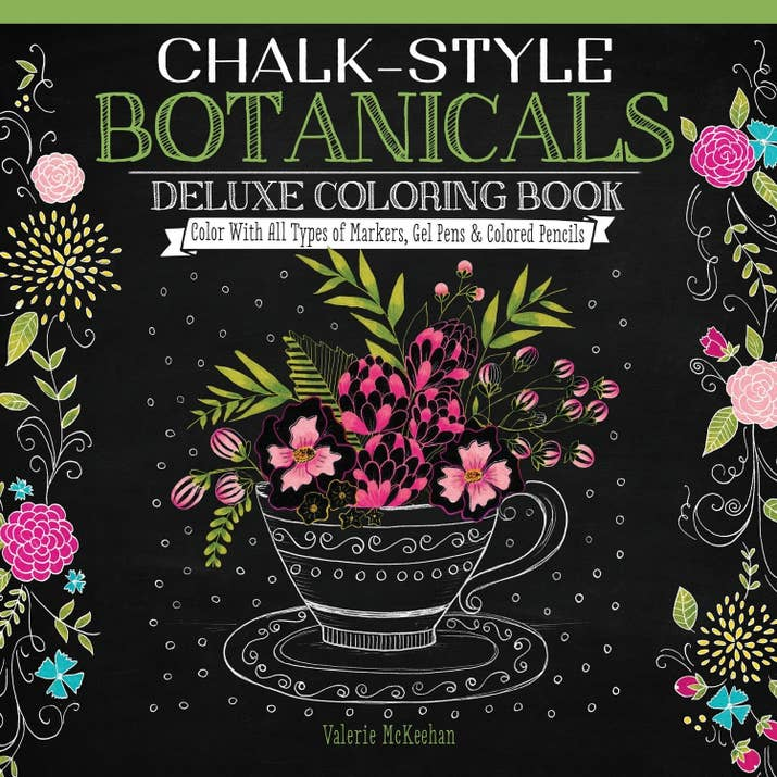 A Chalk Style Coloring Book That Will Give You The Perfect Excuse To Buy Huge Pack Of Gel Pens