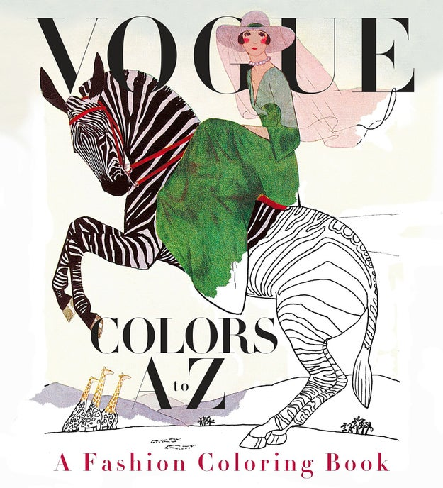 A Vogue coloring book for people who want to re-write fashion history with their own color schemes.