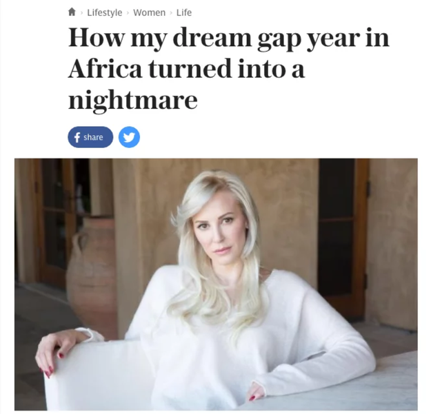 "You might also recall that memoir about her ""nightmare"" gap year in Zambia, which was widely denounced, not only for its offensive stereotypes, but also because a lot of it seemed to be fabricated."