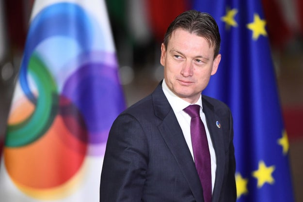 This is Halbe Zijlstra. Up until earlier today, he was the foreign minister for the Kingdom of the Netherlands.