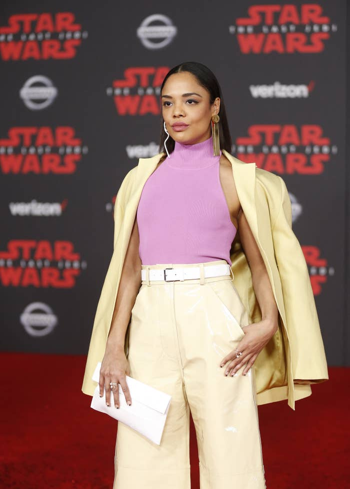 Thompson at the world premiere of Star Wars: The Last Jedi in Los Angeles.