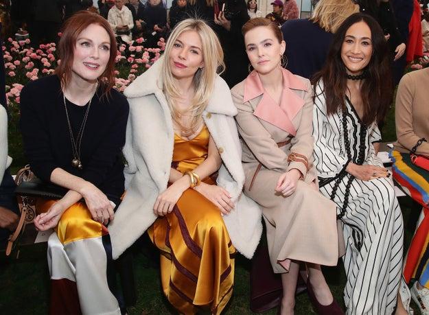 2018: Julianne Moore, Sienna Miller, Zoey Deutch, and Maggie Q.