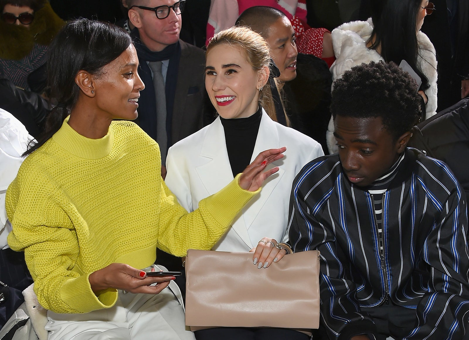 2018: Liya Kebede, Zosia Mamet and Caleb McLaughlin.