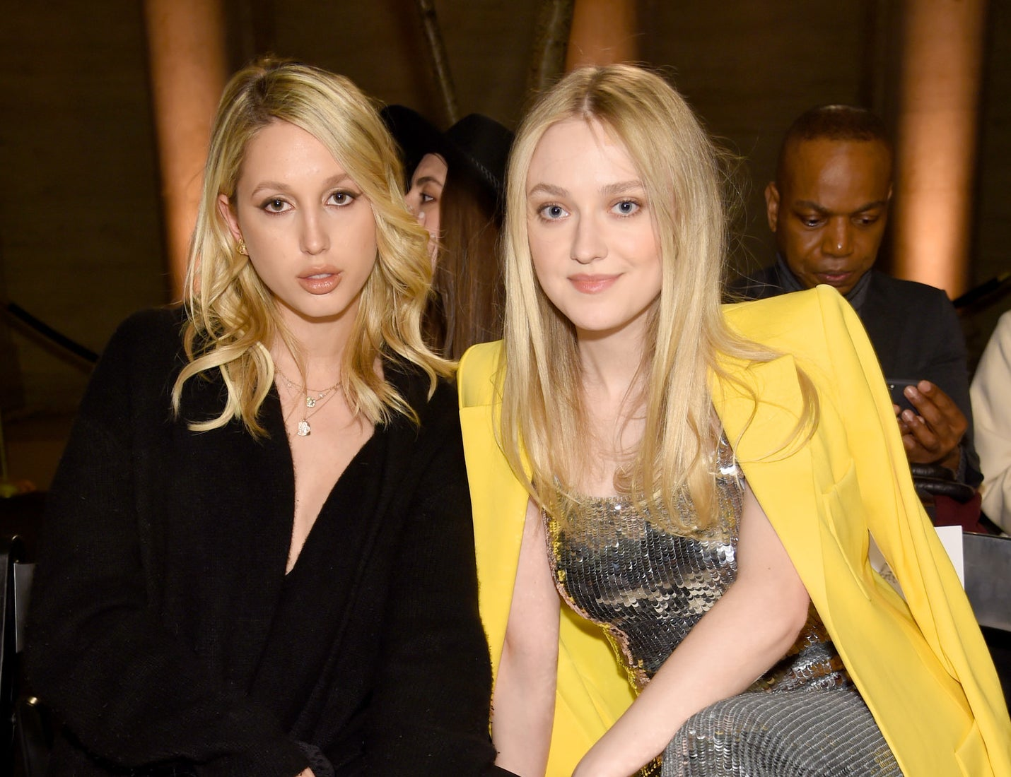 2018: Princess Maria-Olympia and Dakota Fanning.
