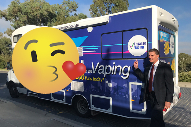 An Australian Politician Is Spending Valentine's Day Driving Around In A Pro-Vaping Van