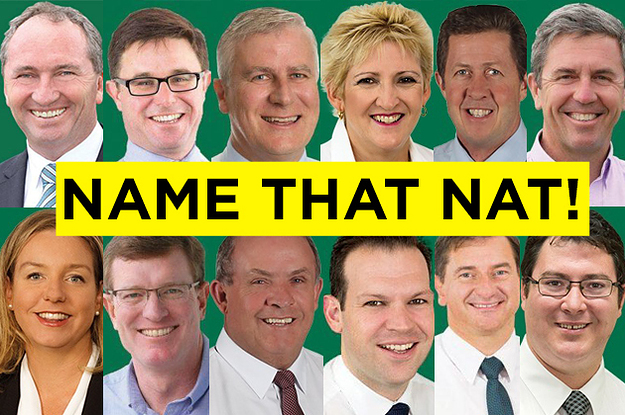 Can You Tell These Nationals Party Politicians Apart Or Do They Really Just All Look The Same?