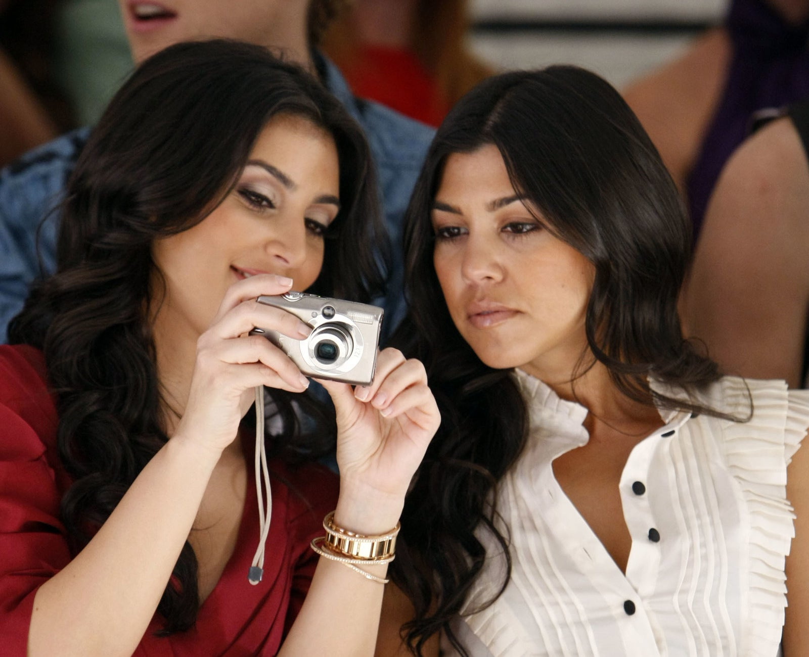 2008: Kim and Kourtney Kardashian.