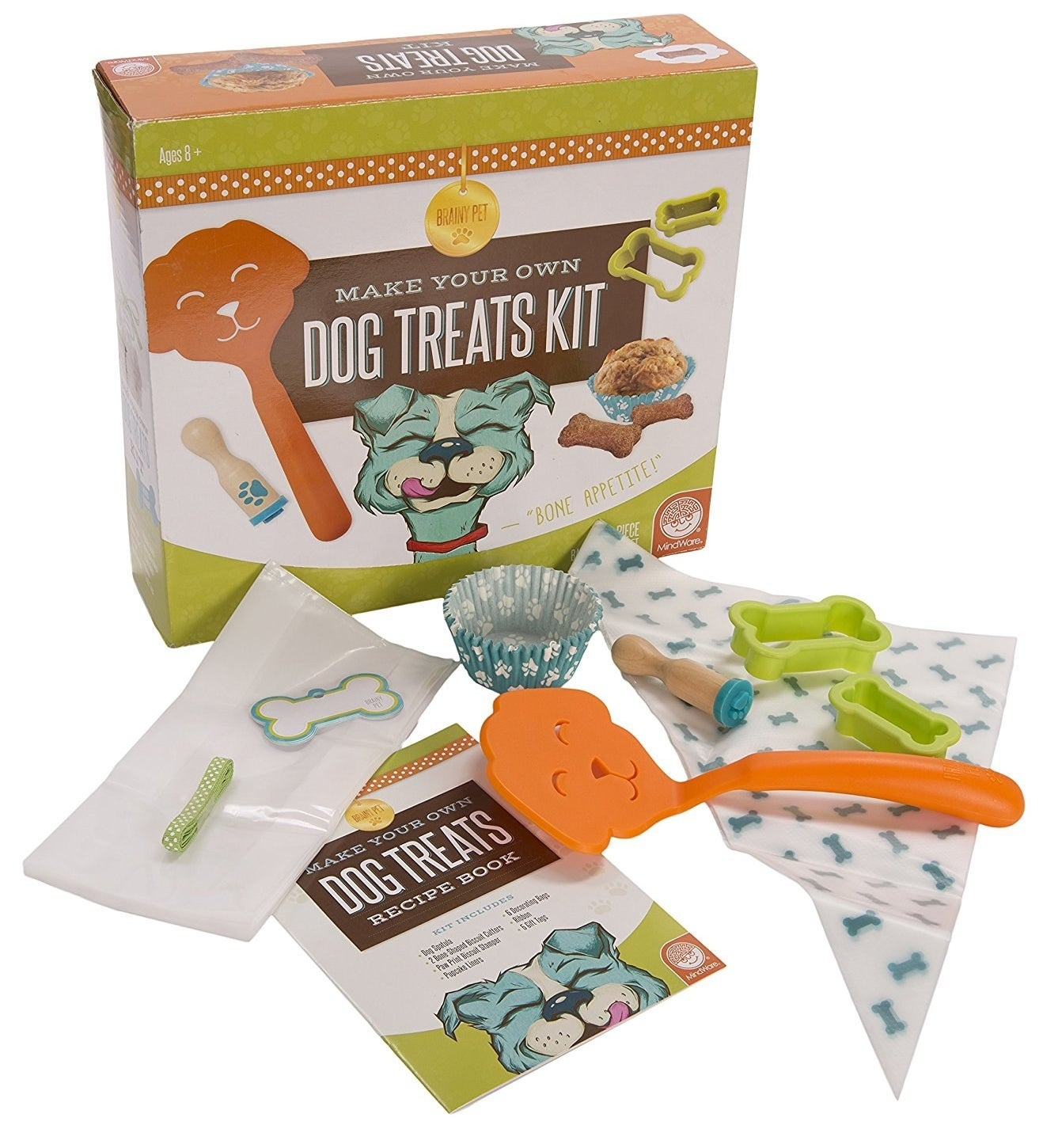 A dog treat kit packed full with tips and tools so you can finally bake for your best friend.