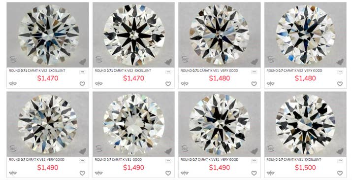 Some online jewelers sell loose diamonds that can be put into a setting, and allow you to see actual, up-close photos and videos of the diamond you're purchasing so you can truly comparison-shop in a way you can't in a store. This is probably your best bet for the lowest prices if you don't live close enough to a big city with a jewelry district.Personally, I bought my wife's engagement ring from James Allen, and although the thought of shipping something so expensive was terrifying, it worked out well for me. They allow you to send back the ring if you want anything changed, and I took advantage of that when I discovered I didn't love the setting I chose as much as I thought I would.