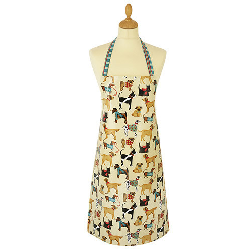 A cotton apron with all the dogs and none of the hair.