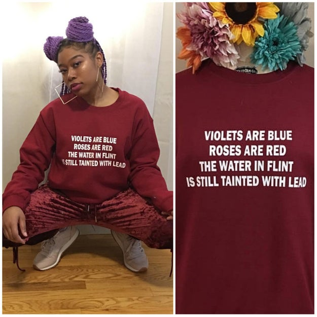 What do you do when the most romantic day of the year falls on the blackest month of the year? If you're designer Olatiwa Karade, you team up with writer Mieko Gavia and release a collection of unapologetically woke sweatshirts.