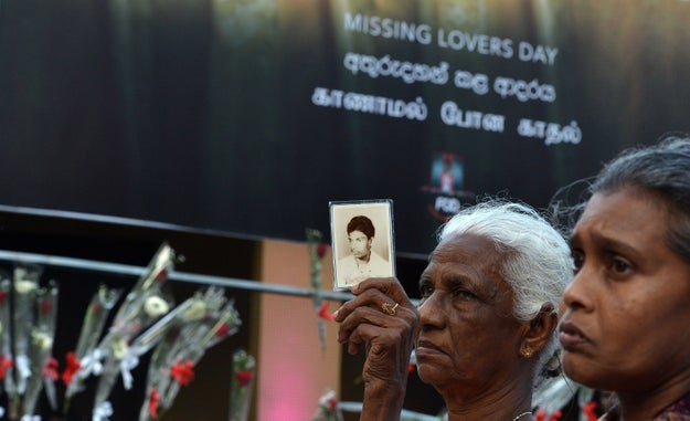 """The """"Missing Lovers Day"""" event was held at the Dutch Hospital in Colombo, the country's capital, hoping to keep the world's attention on the disappearances."""
