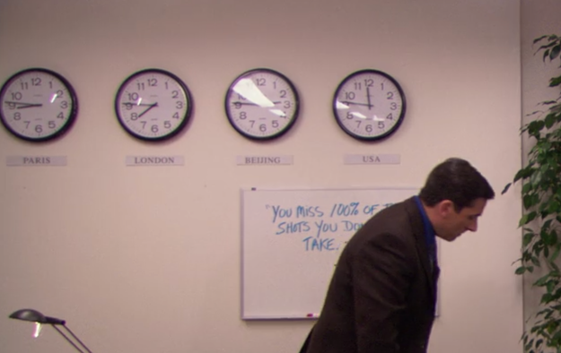 Michael Scott believed that the US only has one time zone: