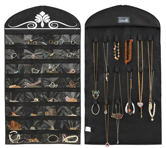 "Promising review: ""Very practical and simple. The display will help me select and wear my jewelry more often. No more digging and searching or forgetting about what I have."" —R. BarnesGet it from Amazon for $7.99."