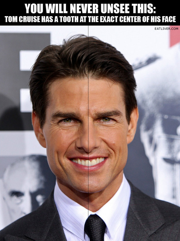 Tom Cruise's tooth, OMG: