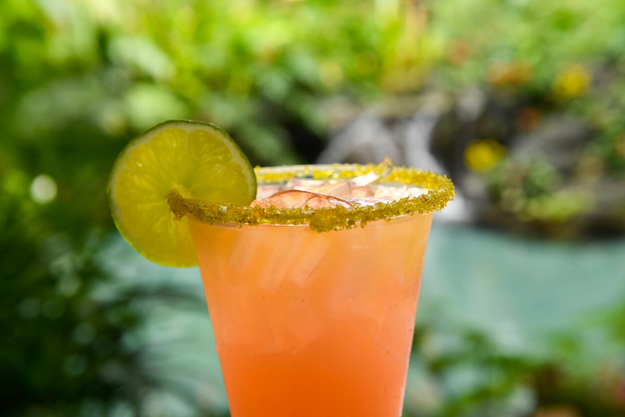 And last but not least, this Rose Gold Margarita with lime and a gold sugar rim to quench your thirst after all that dessert.