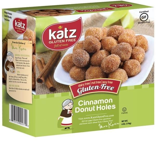 A box of Katz Gluten-Free Donuts that'll satisfy a sweet tooth.