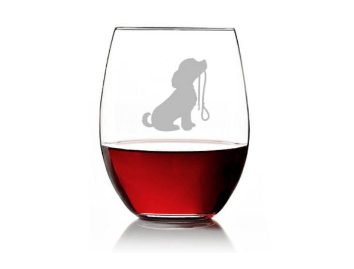 A stemless wineglass capable of holding about a pint of vino.