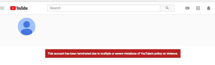 Uma mensagem na página do YouTube do Nikolas Cruz mostrou que a conta foi excluída quarta-feira à noite.