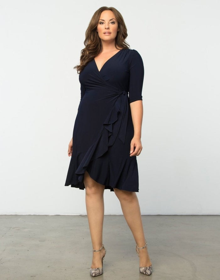 """Promising review: """"I have an oval body shape. Usually clothes are too large in the shoulder/bust area in order to accommodate the waist and hips. This dress was a dream. Comfortable and sassy, I'm contemplating getting another in a different color. Received several compliments."""" —DawnPrice: $88 (available in seven colors, sizes XL–5XL)"""