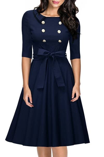 a53dbfdae0 A retro cutie to send you swirling and twirling into work – yes boss, of  course I'm just this happy to be here. (Kidding – it's because this dress  is so ...