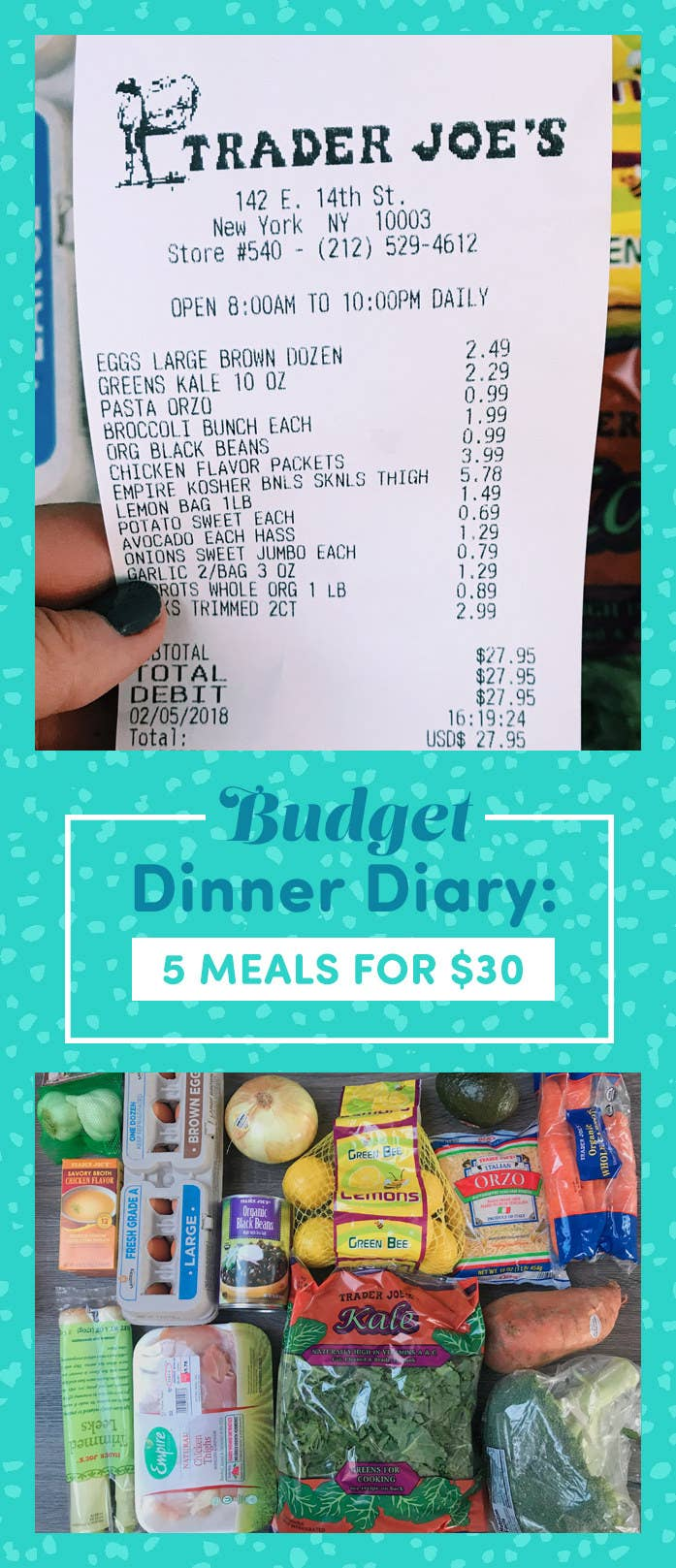 I Tried Cooking Dinner All Week On A 30 Budget