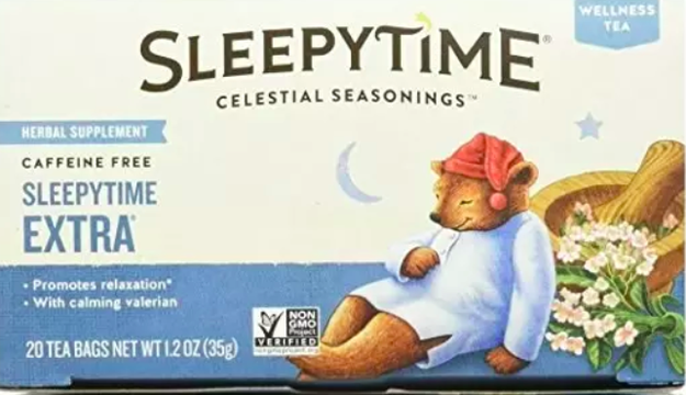 Or try drinking Sleepytime tea around 30 minutes before going to bed.