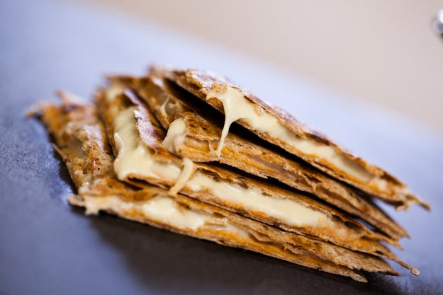 Quesadillas with Cashew Cheese and Chipotle Cream