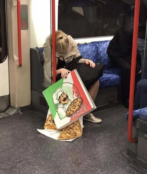 That poor pizza: