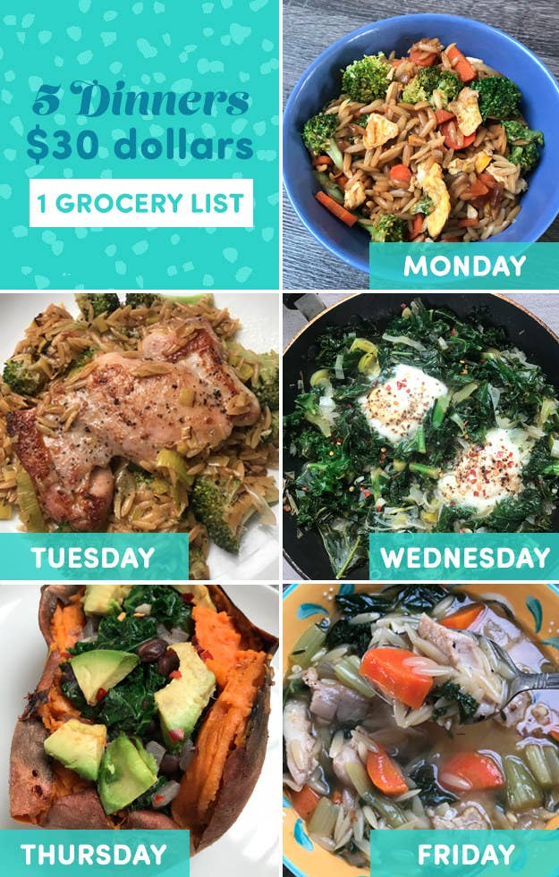 I Tried Cooking Dinner All Week On A $30 Budget